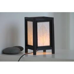 Lampe Thailand Blatt Weiß Höhe 20cm