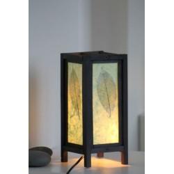 Lampe Thailand Blatt Hellgrün 28 cm Höhe