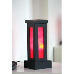 Lampe Thailand Blatt Rot Höhe 28 cm
