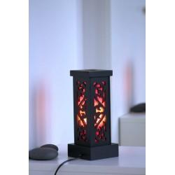 Lampe Thailand Rot Ornament Höhe 28 cm