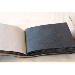 Photo album small with leather cover 18x13 cm