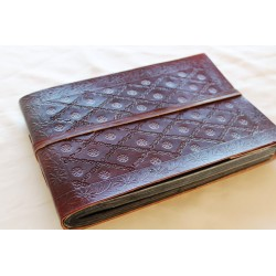 Leather album floral pattern 27x18 cm