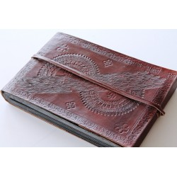 Photo album leather cover 27x18 cm