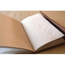 Notizbuch mit Echtledereinband Randverzierung 23x14 cm - LEDER-N021