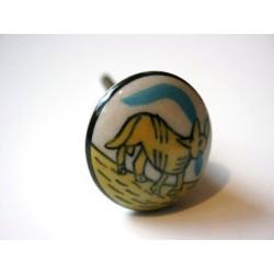 Möbelknopf Keramik handbemalt (B-Ware)