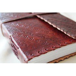 Notebook with genuine leather cover 23x14 cm