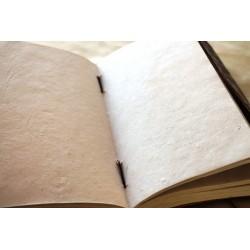 Notizbuch mit Echtledereinband 23x14 cm