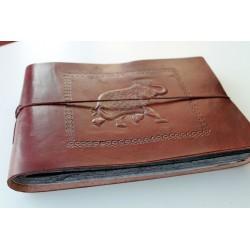 copy of Fotoalbum leather cover elephant motif 27x18 cm