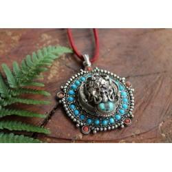 copy of Amulett aus Nepal Türkis Koralle