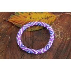 Bracelet glass beads handmade in Nepal - ARMBAND006