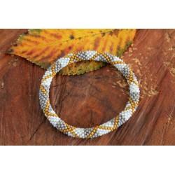 Bracelet glass beads handmade in Nepal - ARMBAND015