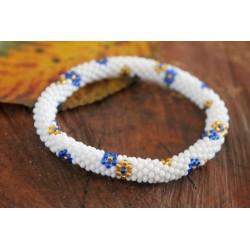 Bracelet glass beads handmade in Nepal - ARMBAND016