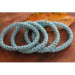 Bracelet glass beads handmade in Nepal - ARMBAND017