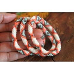 Bracelet glass beads handmade in Nepal - ARMBAND020