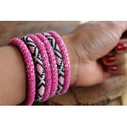 Bracelet glass beads handmade in Nepal - ARMBAND001