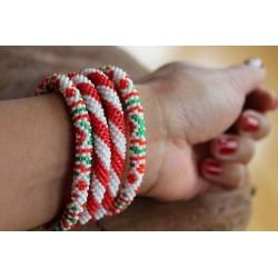 Bracelet glass beads handmade in Nepal - ARMBAND018