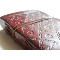 B-Ware: Notebook leather 15x11 cm