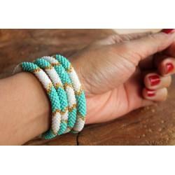 Bracelet glass beads handmade in Nepal - ARMBAND023