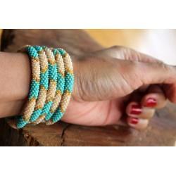 Bracelet glass beads handmade in Nepal - ARMBAND024