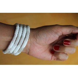 Bracelet glass beads handmade in Nepal - ARMBAND007