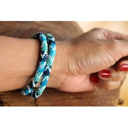 Bracelet glass beads handmade in Nepal - ARMBAND025