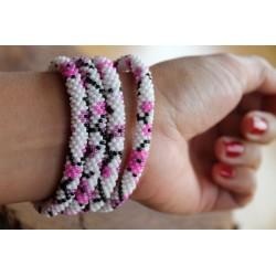 Bracelet glass beads handmade in Nepal - ARMBAND022