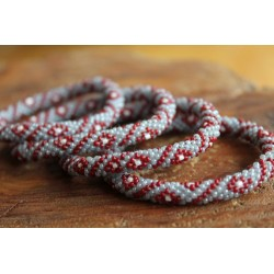 Bracelet glass beads handmade in Nepal - ARMBAND019