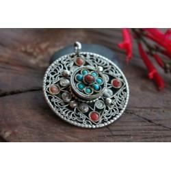 Amulett Glücksbringer aus Nepal Türkis Koralle