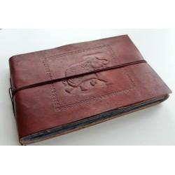 Fotoalbum leather cover elephant motif 27x18 cm