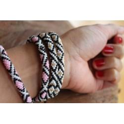 Bracelet glass beads handmade in Nepal - ARMBAND008