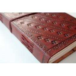 Ledertagebuch mit Elefanten Motiv 23x14 cm
