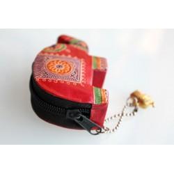 Kleine Geldbörse Elefant in Rot
