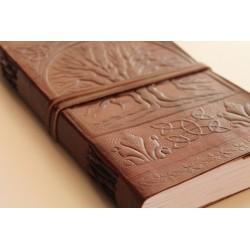 B-Ware: Leder Tagebuch mit Baummotiv 23x14 cm