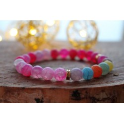 copy of 7 chakra bracelet made of natural stones and lava stones 8mm
