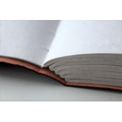 Notebook smooth leather 23x14 cm