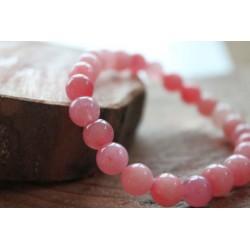 Rose quartz bracelet made of 8mm beads, size 17 cm