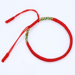Tibetan happiness bracelet red handmade Buddhism