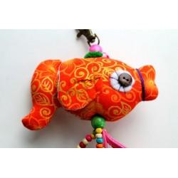Fisch Schlüsselanhänger Taschenanhänger Orange ca. 22 cm