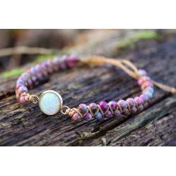 Jasper protection bracelet Pearl bracelet elegant with small 3.5 mm pearls