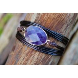 Multilayer Wrap Bracelet Wrap Bracelet Amethyst Boho Friendship Bracelet