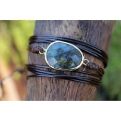 Multilayer Wrap Bracelet Wrap Bracelet Labradorite Boho Friendship Bracelet