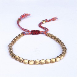 copy of Tibetan bracelet brass beads Buddhism happiness bracelet red