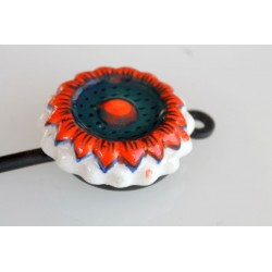 B-Ware: Wandhaken Blumenform in Orange