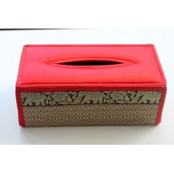 copy of Tissue box / wipes box / cosmetic tissue box in Thai style elephant pattern