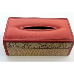 Tissue Box / Tücher Box / Kosmetiktücherbox im Thai-Stil Elefantenmuster - Tissue027