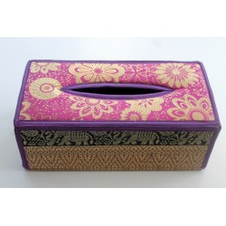 Tissue Box / Tücher Box / Kosmetiktücherbox im Thai-Stil Elefantenmuster - Tissue028
