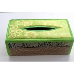 Tissue Box / Tücher Box / Kosmetiktücherbox im Thai-Stil Elefantenmuster - Tissue030
