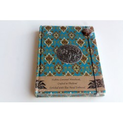 Diary notebook fabric Thailand with elephant 19x14 cm- THAI103