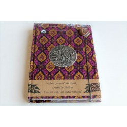 Diary notebook fabric Thailand with elephant 19x14 cm- THAI111