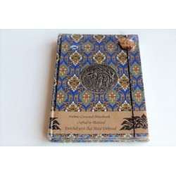 Diary notebook fabric Thailand with elephant 19x14 cm- THAI113